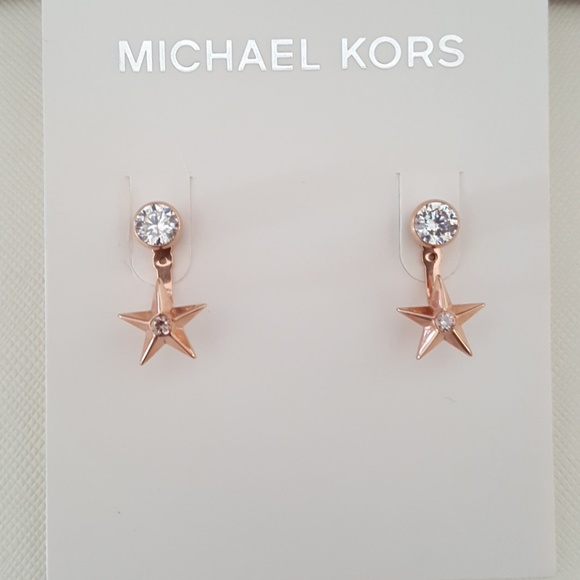 Michael Kors Jewelry Rose Gold Cz Star Stud Jacket Earring Poshmark